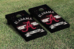 Alabama Crimson Tide Cornhole Game Set Banner Vintage Version