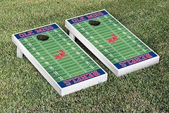 Ole Miss Rebels Cornhole Game Set Football Field Version