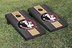 Florida State Seminoles Cornhole Game Set Onyx Stained Stripe Version College Vault