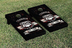 Georgia Bulldogs Cornhole Game Set Banner Vintage Version