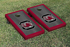 South Carolina Gamecocks Cornhole Game Set Onyx Stained Border Version