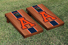 Auburn Tigers Cornhole Game Set Rosewood Stained Stripe Version College Vault