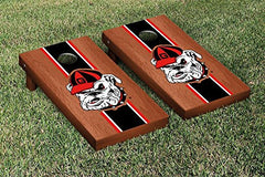 Georgia Bulldogs Cornhole Game Set Rosewood Stained Stripe Version 3