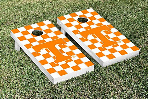Picture of Tennessee Volunteers Cornhole Game Set Checkerboard Version