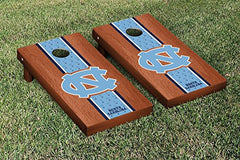 North Carolina Tar Heels Cornhole Game Set Rosewood Stained Stripe Version 1