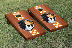 Tennessee Volunteers Cornhole Game Set Rosewood Stained Stripe Smokey Version
