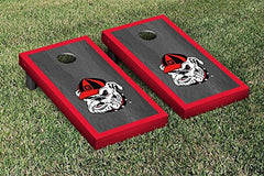Georgia Bulldogs Cornhole Game Set Onyx Stained Border Version 2