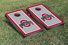 Ohio State Buckeyes Cornhole Game Set Border Buckeye Leaves Version