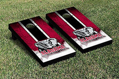 Alabama Crimson Tide Cornhole Game Set Grunge Version 2