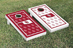 Oklahoma Sooners Cornhole Game Set Border Version 2