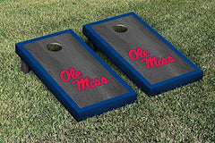 Ole Miss Rebels Cornhole Game Set Onyx Stained Border Version