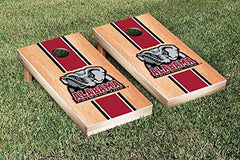 Alabama Crimson Tide Cornhole Game Set Hardcourt Stripe Version 2