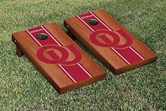 Oklahoma Sooners Cornhole Game Set Rosewood Stained Stripe Version College Vault