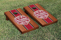 Alabama Crimson Tide Cornhole Game Set Rosewood Stained Stripe Version National Championship 2015