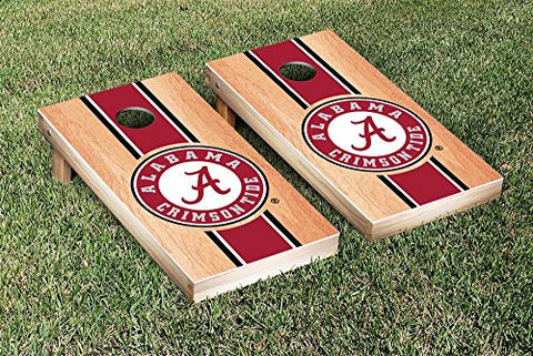 Picture of Alabama Crimson Tide Cornhole Game Set Hardcourt Stripe Version
