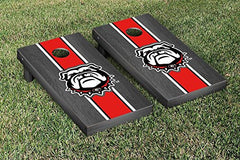 Georgia Bulldogs Cornhole Game Set Onyx Stained Stripe Version 2
