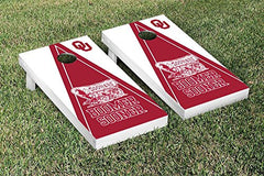 Oklahoma Sooners Cornhole Game Set Triangle Version 2