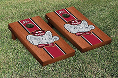 Alabama Crimson Tide Cornhole Game Set Rosewood Stained Stripe Version College Vault