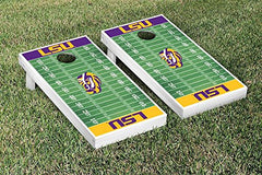LSU Tigers Cornhole Game Set Football Field Version