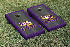 LSU Tigers Cornhole Game Set Onyx Border Version
