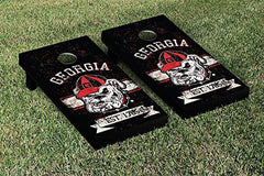 Georgia Bulldogs Cornhole Game Set Banner Vintage Version 2