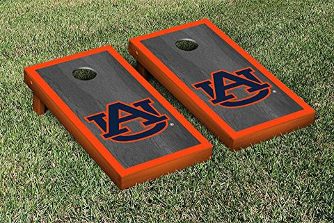 Picture of Auburn Tigers Cornhole Game Set Onyx Border Version