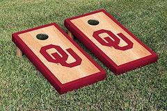 Oklahoma Sooners Cornhole Game Set Hardcourt Border Version