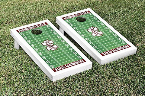 Picture of Mississippi State Bulldogs Cornhole Game Set Football Field Version