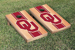 Oklahoma Sooners Cornhole Game Set Hardcourt Stripe Version