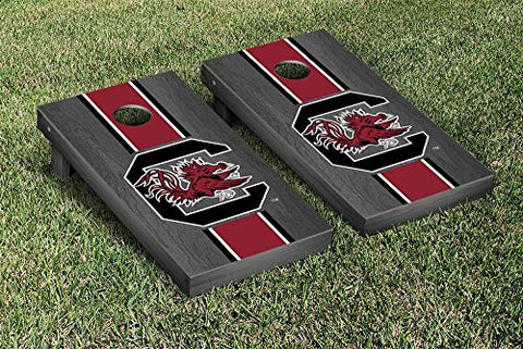 Picture of South Carolina Gamecocks Cornhole Game Set Onyx Stained Stripe Version