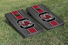 South Carolina Gamecocks Cornhole Game Set Onyx Stained Stripe Version