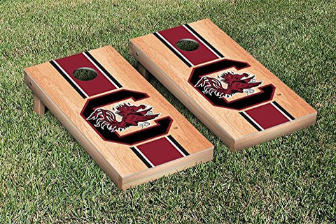 Picture of South Carolina Gamecocks Cornhole Game Set Hardcourt Stripe Version