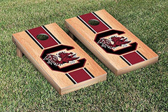 South Carolina Gamecocks Cornhole Game Set Hardcourt Stripe Version