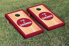 Oklahoma Sooners Cornhole Game Set Hardcourt Border Version College Vault
