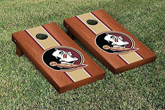Florida State Seminoles Cornhole Game Set Rosewood Stained Striped Version