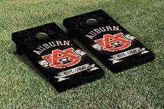 Auburn Tigers Cornhole Game Set Banner Vintage Version