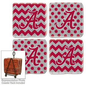 Alabama Crimson Tide Coasters Set of 4
