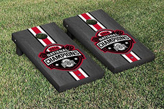 Ohio State Buckeyes Cornhole Game Set Onyx Stained Stripe Version 2014 National Championship