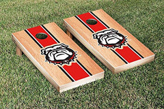 Georgia Bulldogs Cornhole Game Set Hardcourt Stripe Version 2