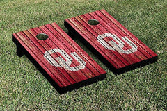 Oklahoma Sooners Cornhole Game Set Weathered Version