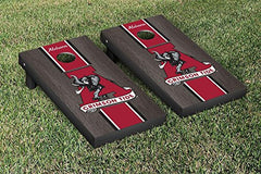 Alabama Crimson Tide Cornhole Game Set Onyx Stained Stripe Version College Vault