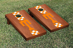 Tennessee Volunteers Cornhole Game Set Rosewood Stained Stripe Version College Vault