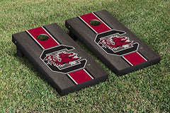 South Carolina Gamecocks Cornhole Game Set Onyx Striped Wooden