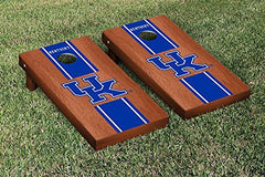Kentucky Wildcats Cornhole Game Set Rosewood Stained Stripe Version 1