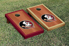 Florida State Seminoles Cornhole Game Set Rosewood Stained Version