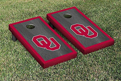 Oklahoma Sooners Cornhole Game Set Onyx Border Version