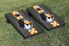 Tennessee Volunteers Cornhole Game Set Onyx Stained Stripe Smokey Version