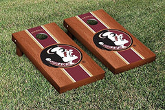 Florida State Seminoles Cornhole Game Set Rosewood Stained Stripe Version College Vault