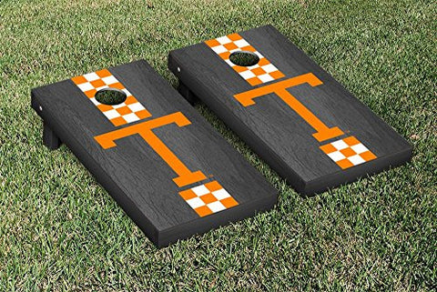 Picture of Tennessee Volunteers Cornhole Game Set Onyx Stained Stripe Version College Vault