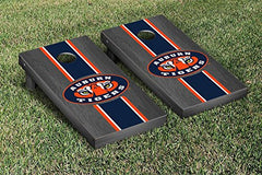 Auburn Tigers Cornhole Game Set Onyx Stained Stripe Version